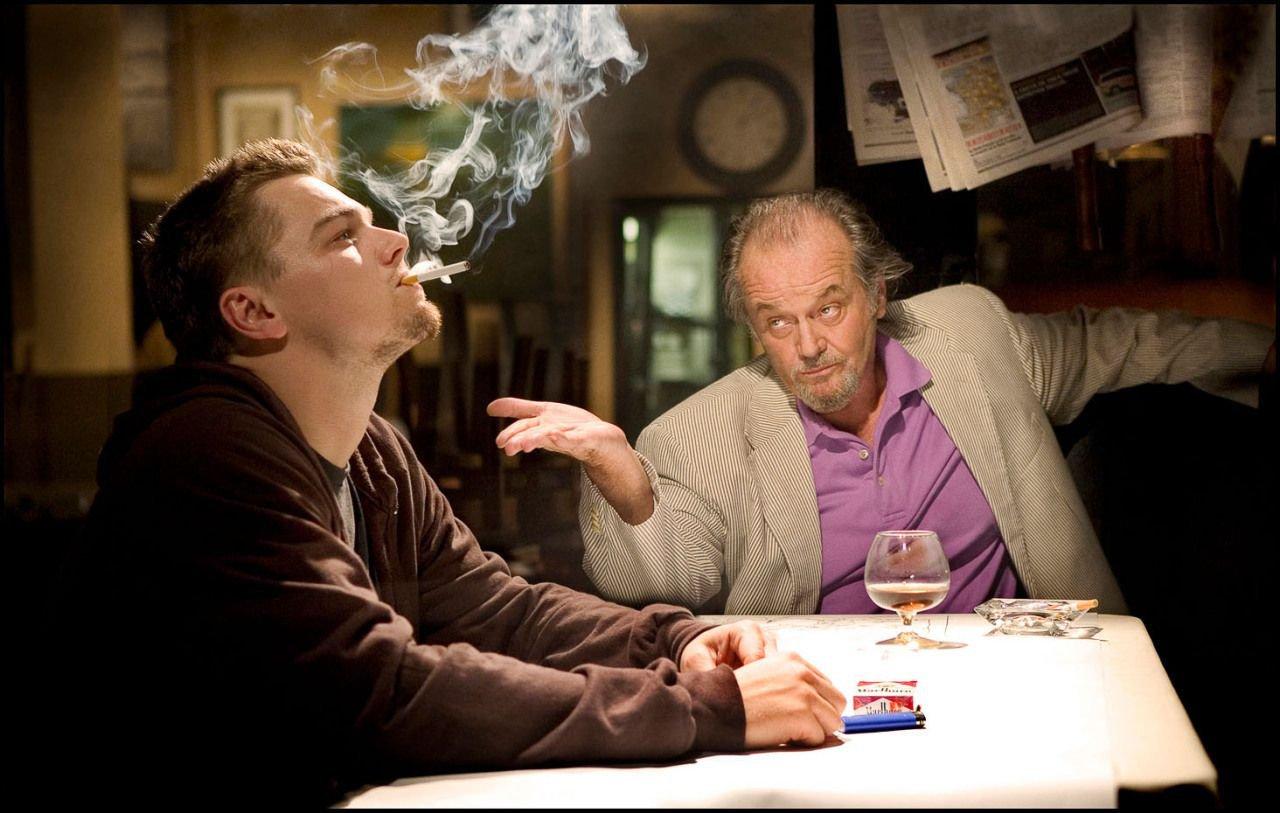 Leonardo Di Caprio and Jack Nicholson in 'The Departed' (2006)