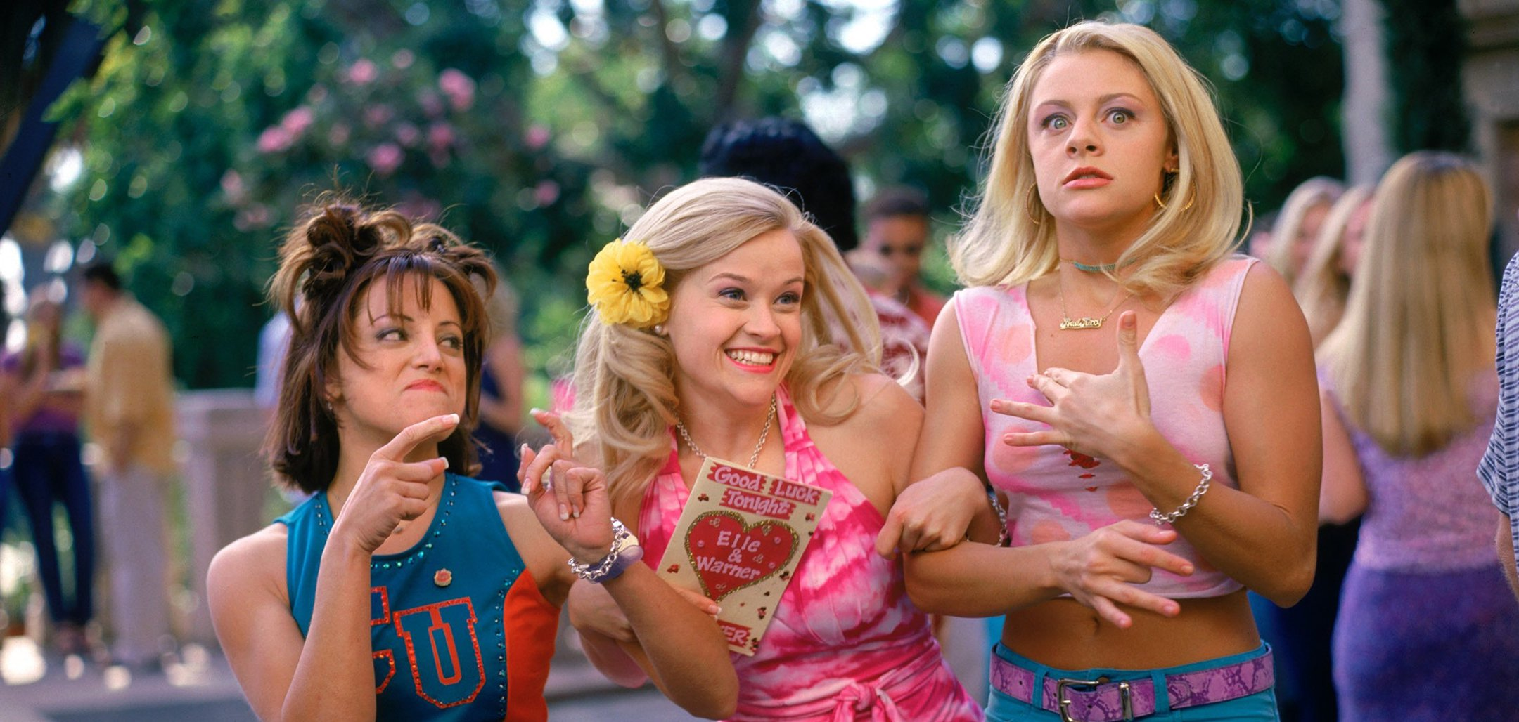 Alanna Ubach, Reece Witherspoon and Jessica Cauffiel in a still from Legally Blonde (2001)