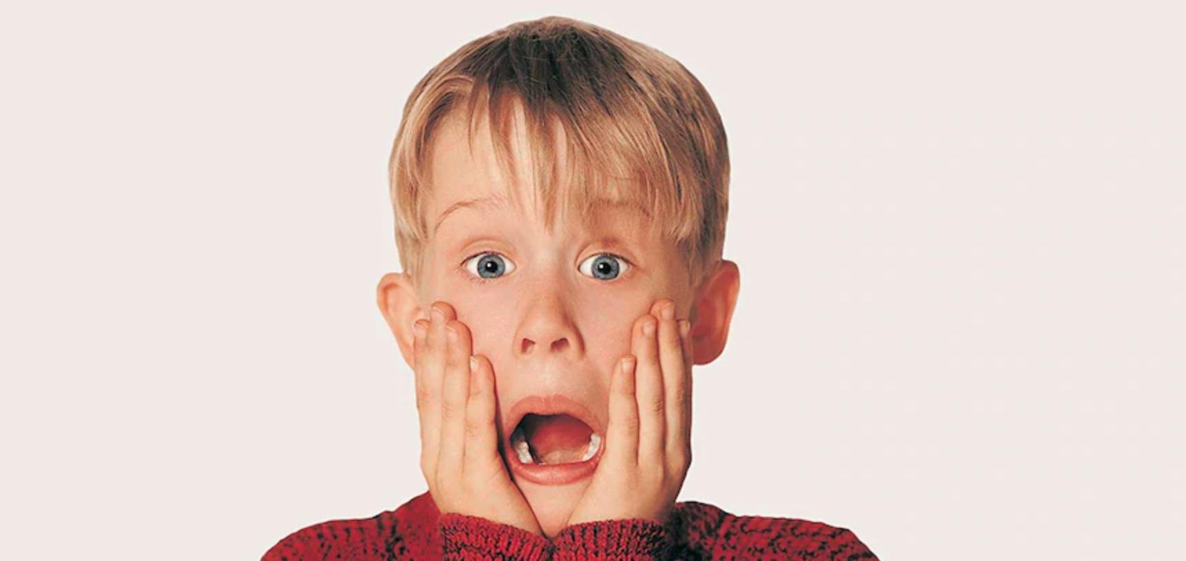 Macauly Caulkin as Kevin McAllister in Home Alone