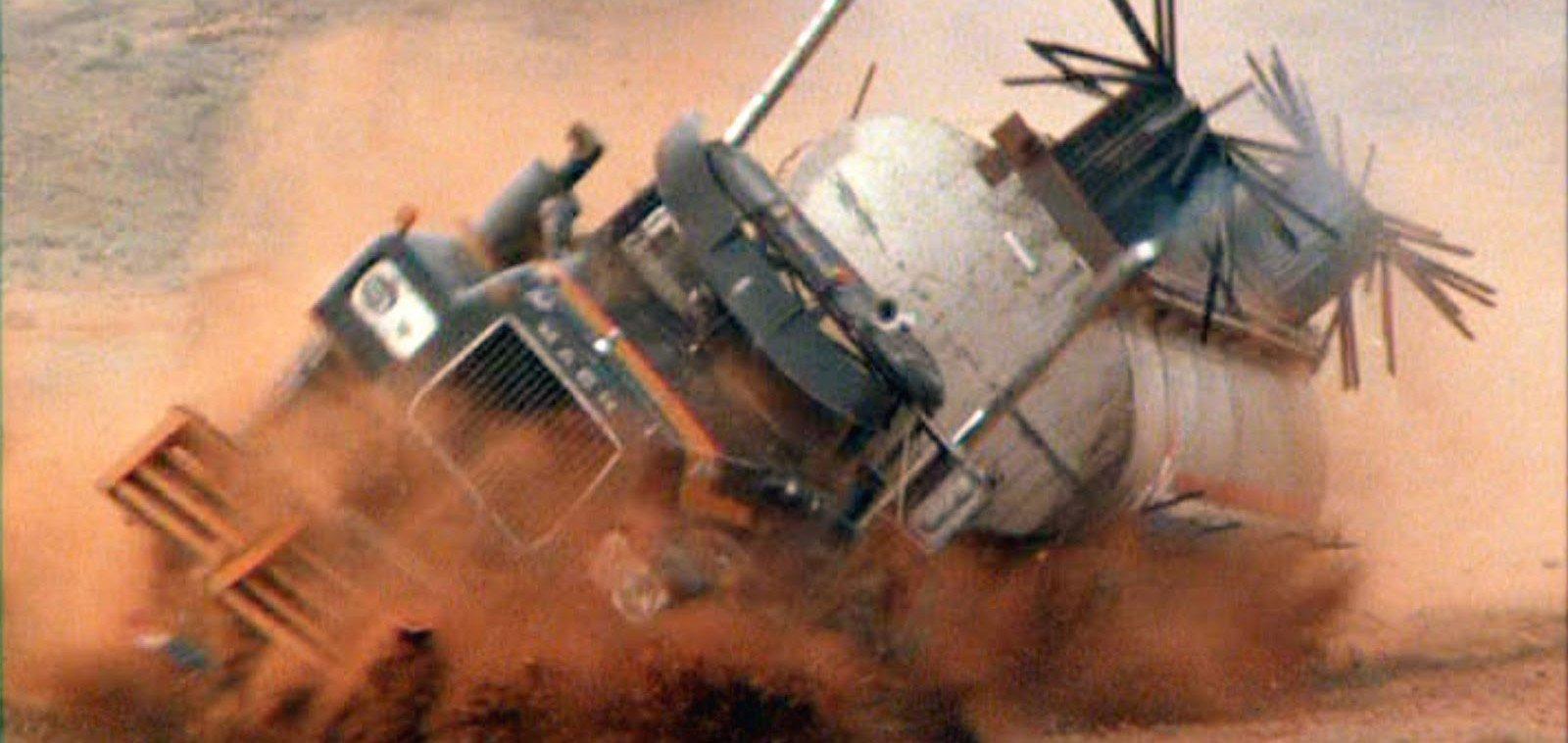 Mad Max 2: The Road Warrior truck crash