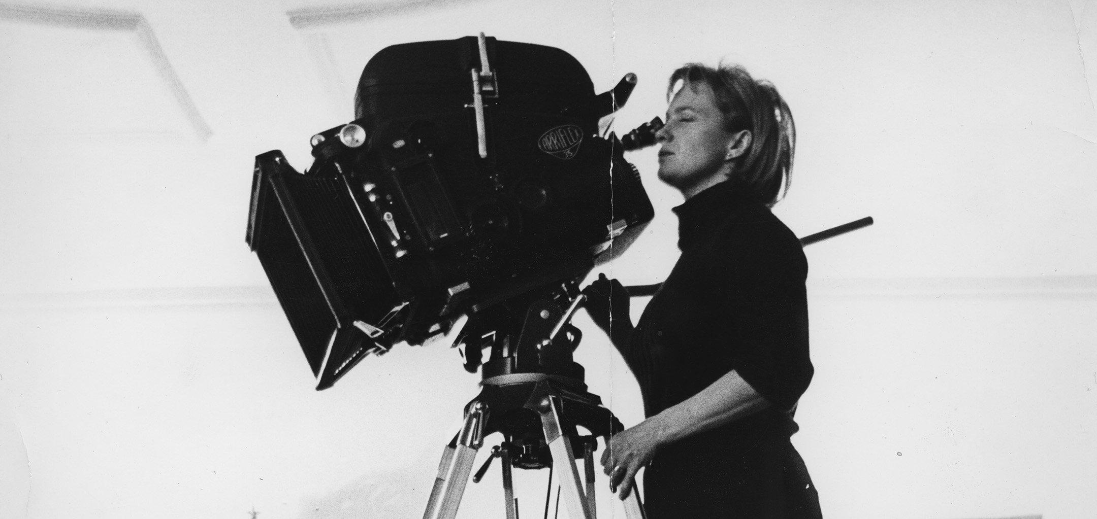 Mai Zetterling operating a camera