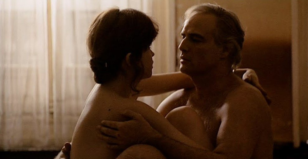 Maria Schneider and Marlon Brando in Last Tango in Paris (1972)