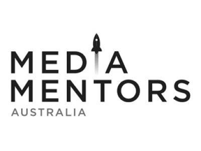 Media Mentors logo - black and white