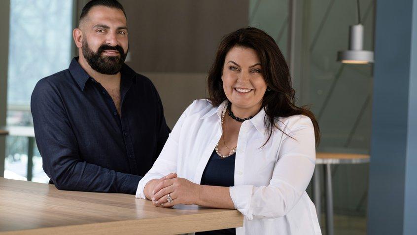 Michael Gebran and Karen Martini in HERO at ACMI