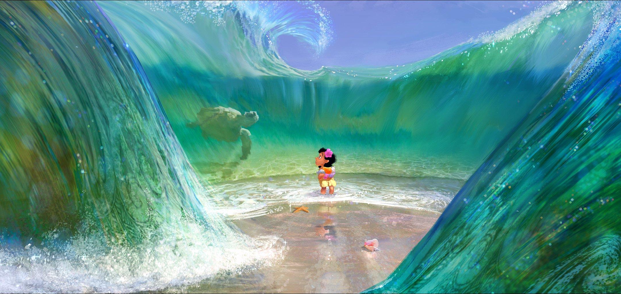Moana, 2016 Lisa Keene Concept art digital painting © Disney Enterprises