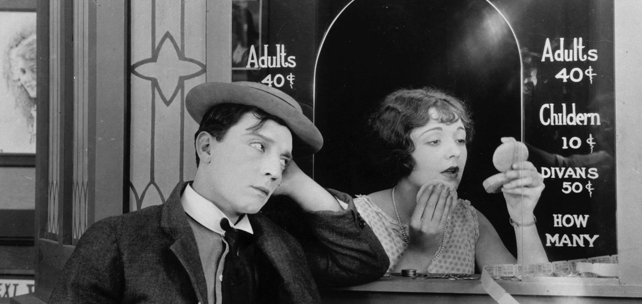 Not-so-silent outdoor cinema at Fed Square - Sherlock Jr (1924)