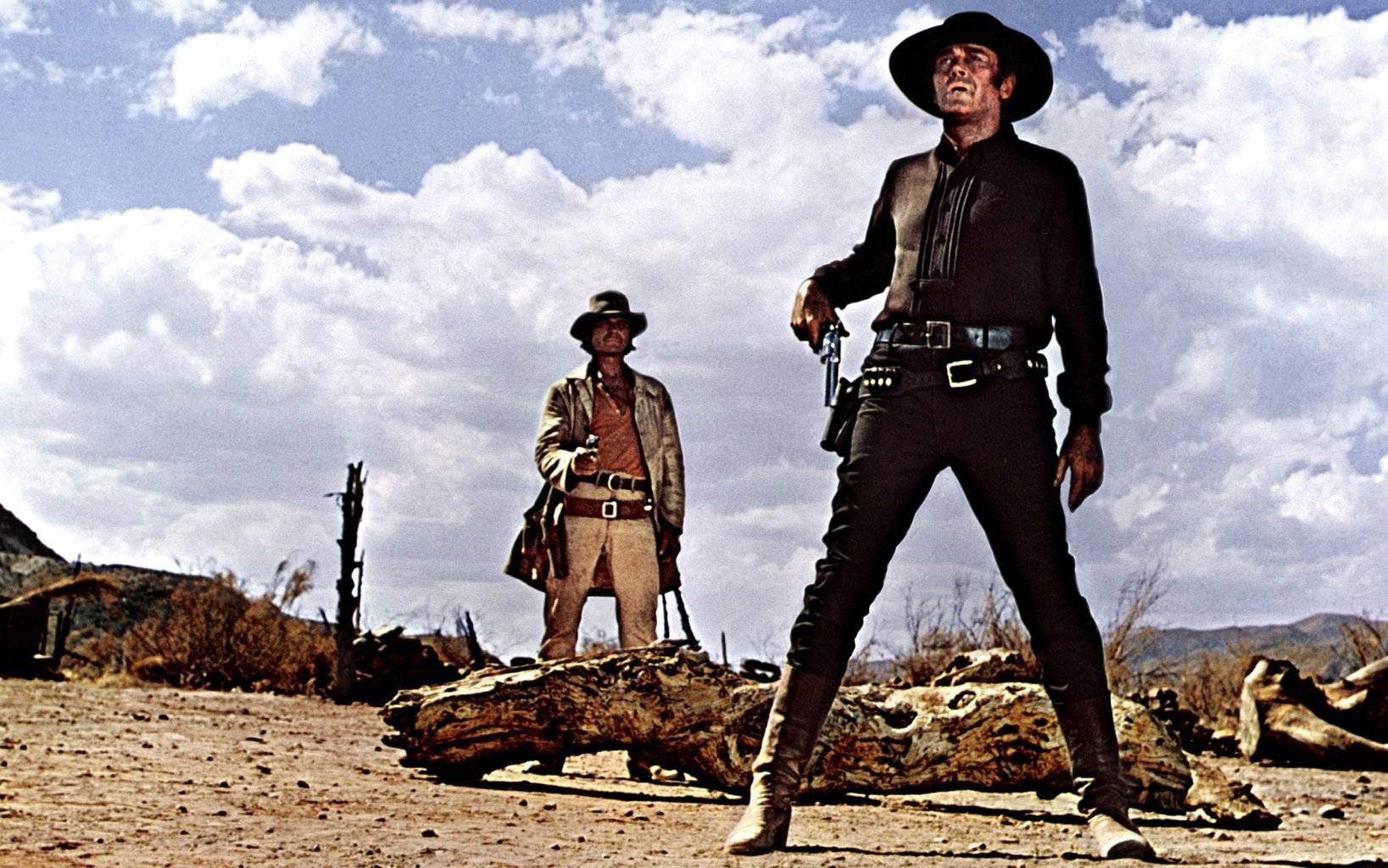 A still from Once Upon a Time in the West (1968) directed by Sergio Leone