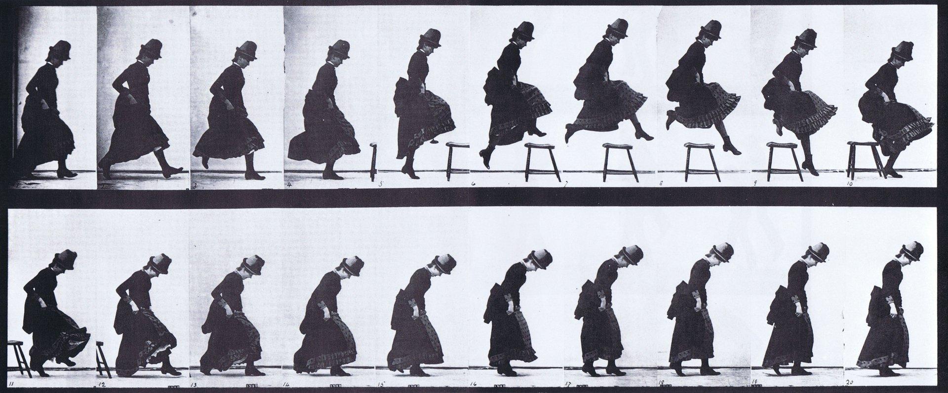 Straight High Jump, Eadweard Muybridge, 1887