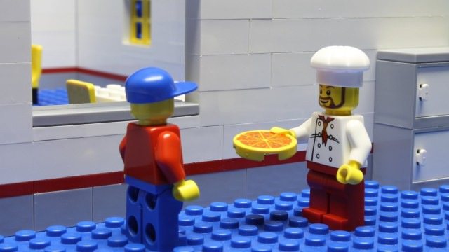 Brickfilm reference images: Lego Pizza Delivery 5