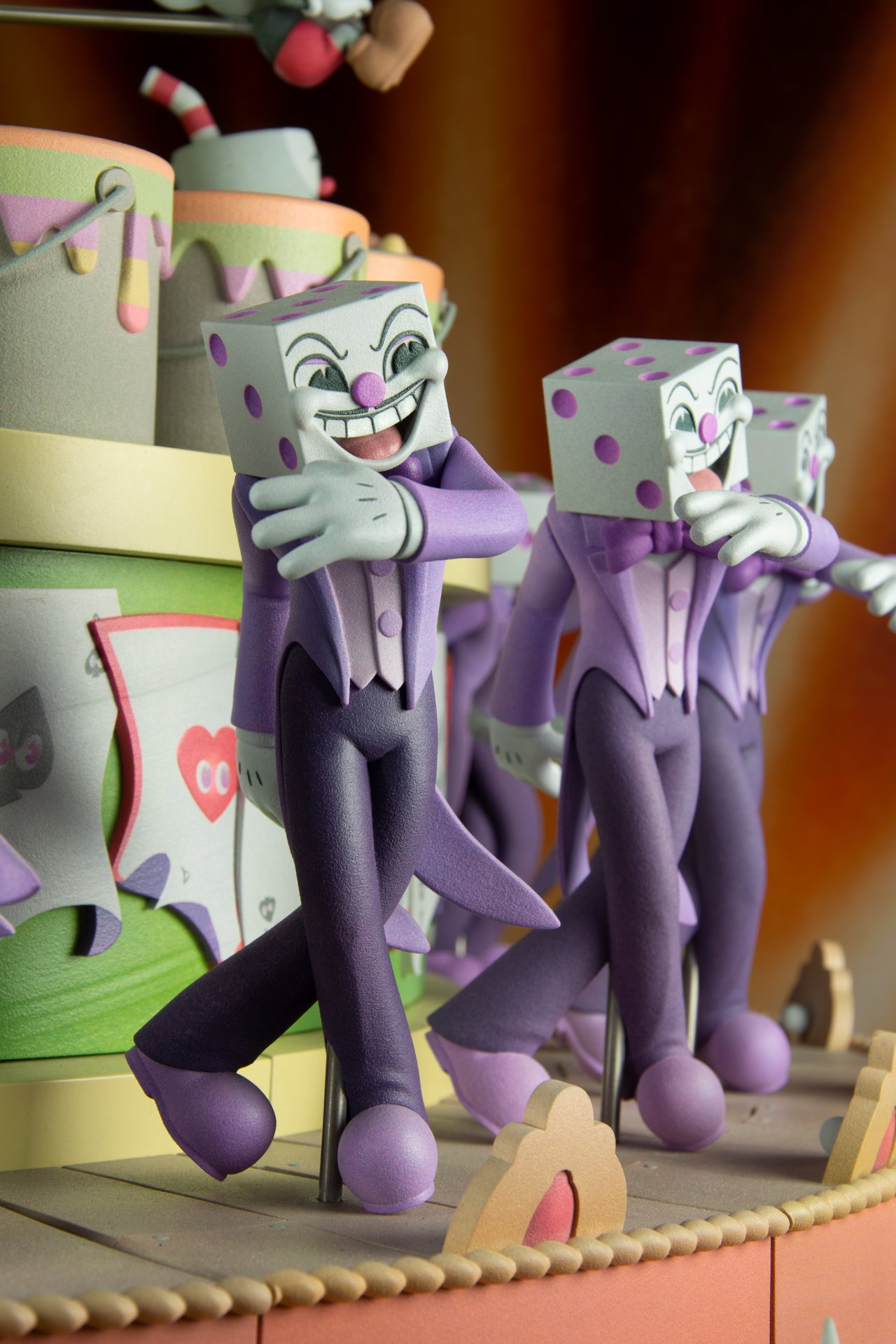 King Dice as featured in the Cuphead Zoetrope at ACMI