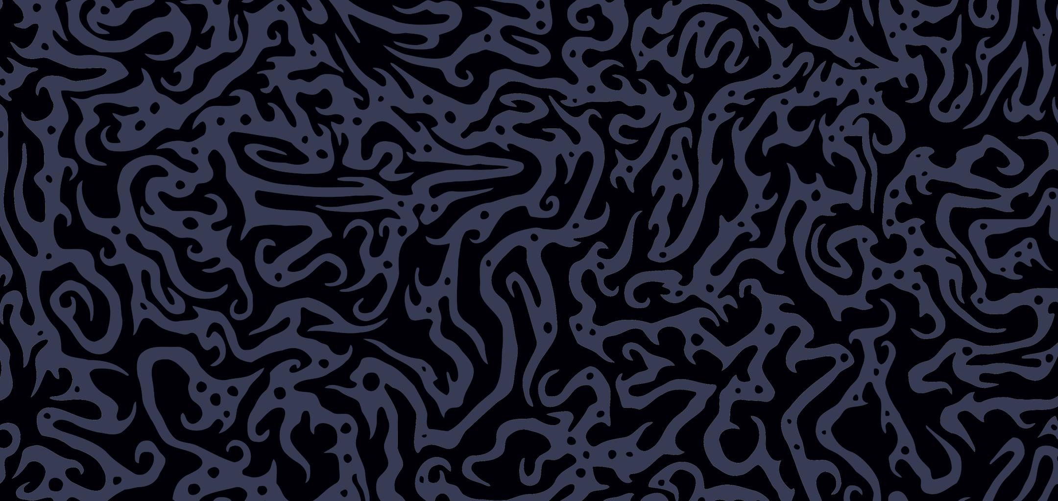 Jagged, wavy blue on black pattern