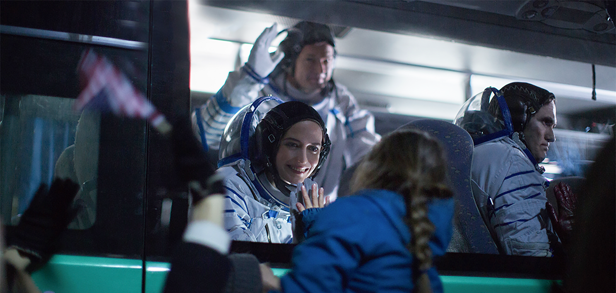 Eva Green as Sarah in her spacesuit in a still from 'Proxima' (2019)