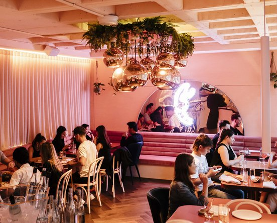 Interior shot of Pinchy's Pinchy's Lobster & Champagne Bar in Melbourne