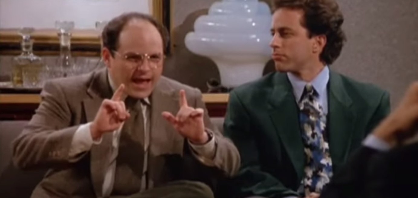George Costanza pitching a show about nothing - Seinfeld