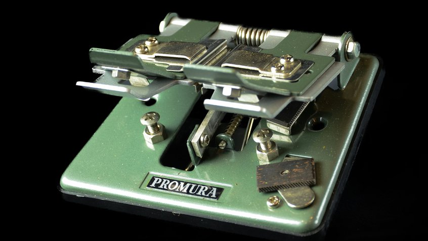 Promura universal film splicer by Eumig c1950s, Japan (photograph by Egmont Contreras)