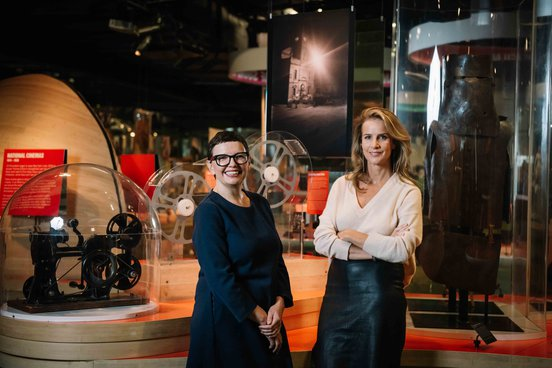 Katrina Segdwick and  Rachel Griffiths at Screen Worlds