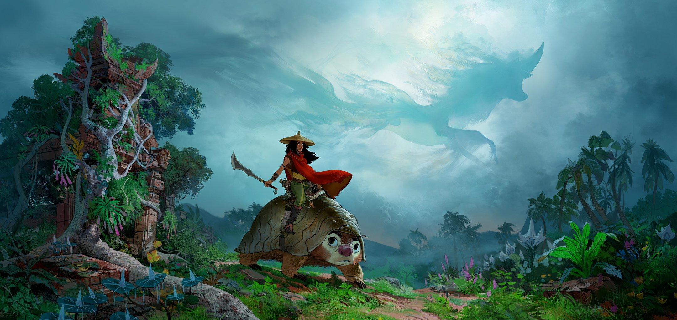 Raya and the Last Dragon, 2021, Paul Felix, concept art, digital painting © Disney Enterprises