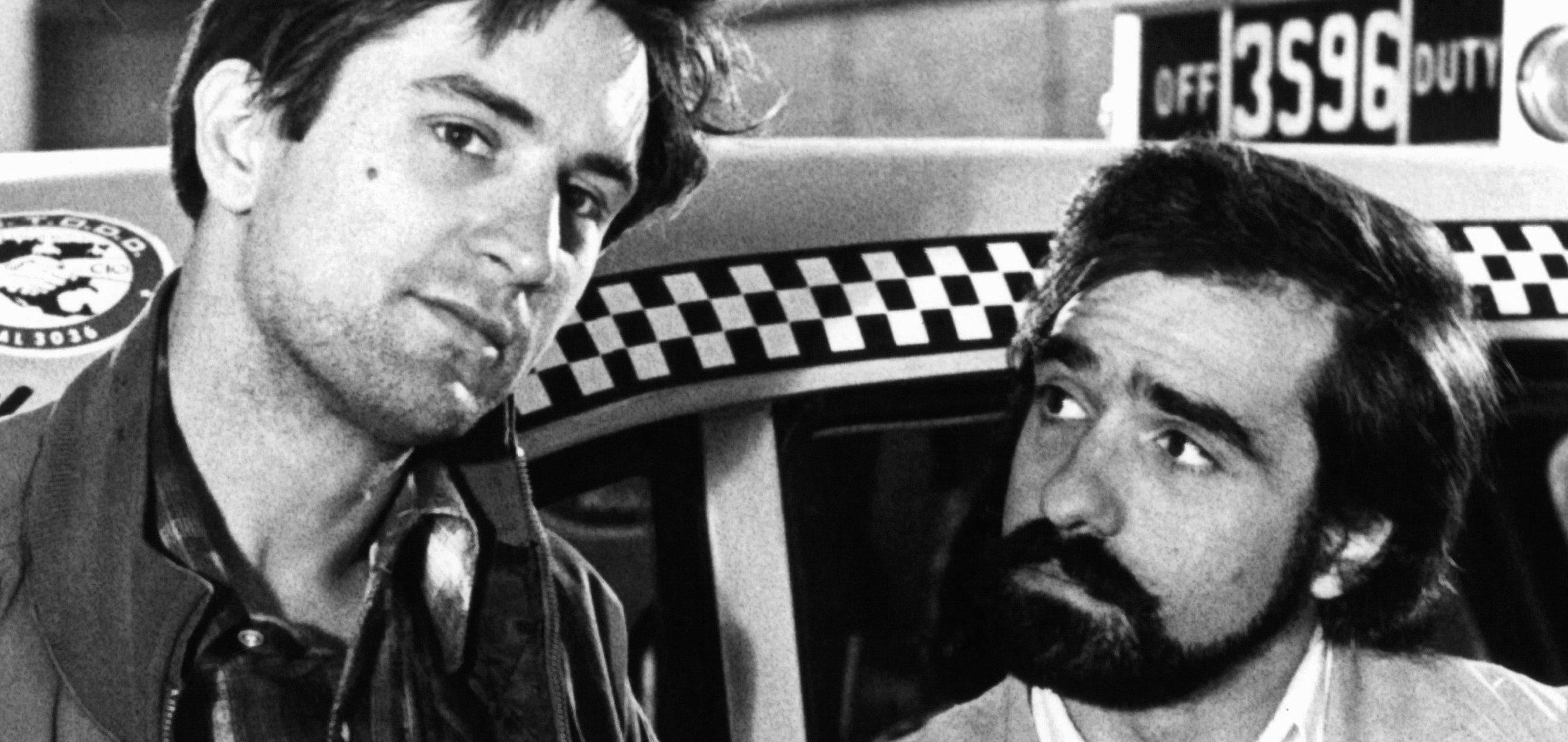 Robert Deniro and Martin Scorsese on set