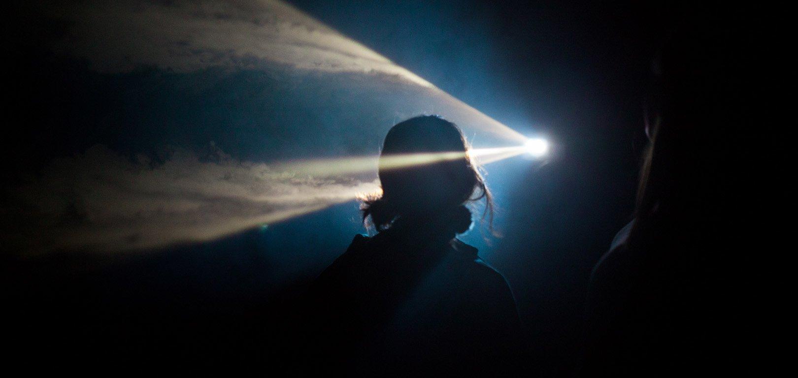 Anthony McCall - You and I – Horizontal II - Silhouette