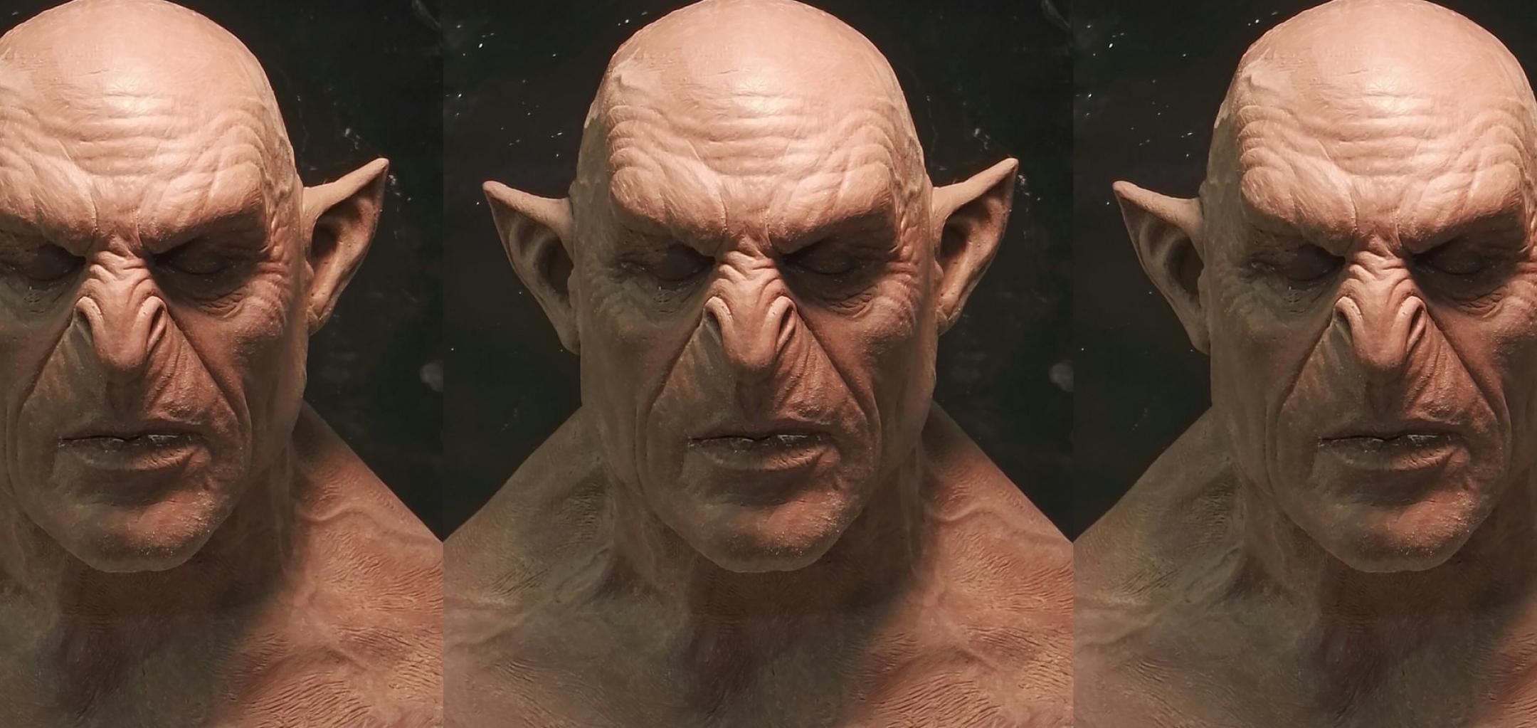 BTS Hero image - Shadow of War facial prosthetic - Courtesy Neil Huxley.jpg