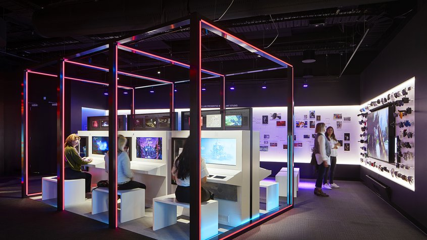 Big Ant Games Lab at ACMI - photograph by Shannon McGrath