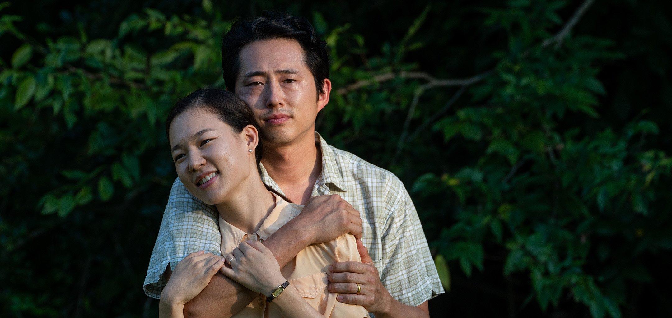 Steven Yeun and Han Ye-ri in 'Minari' (2020)