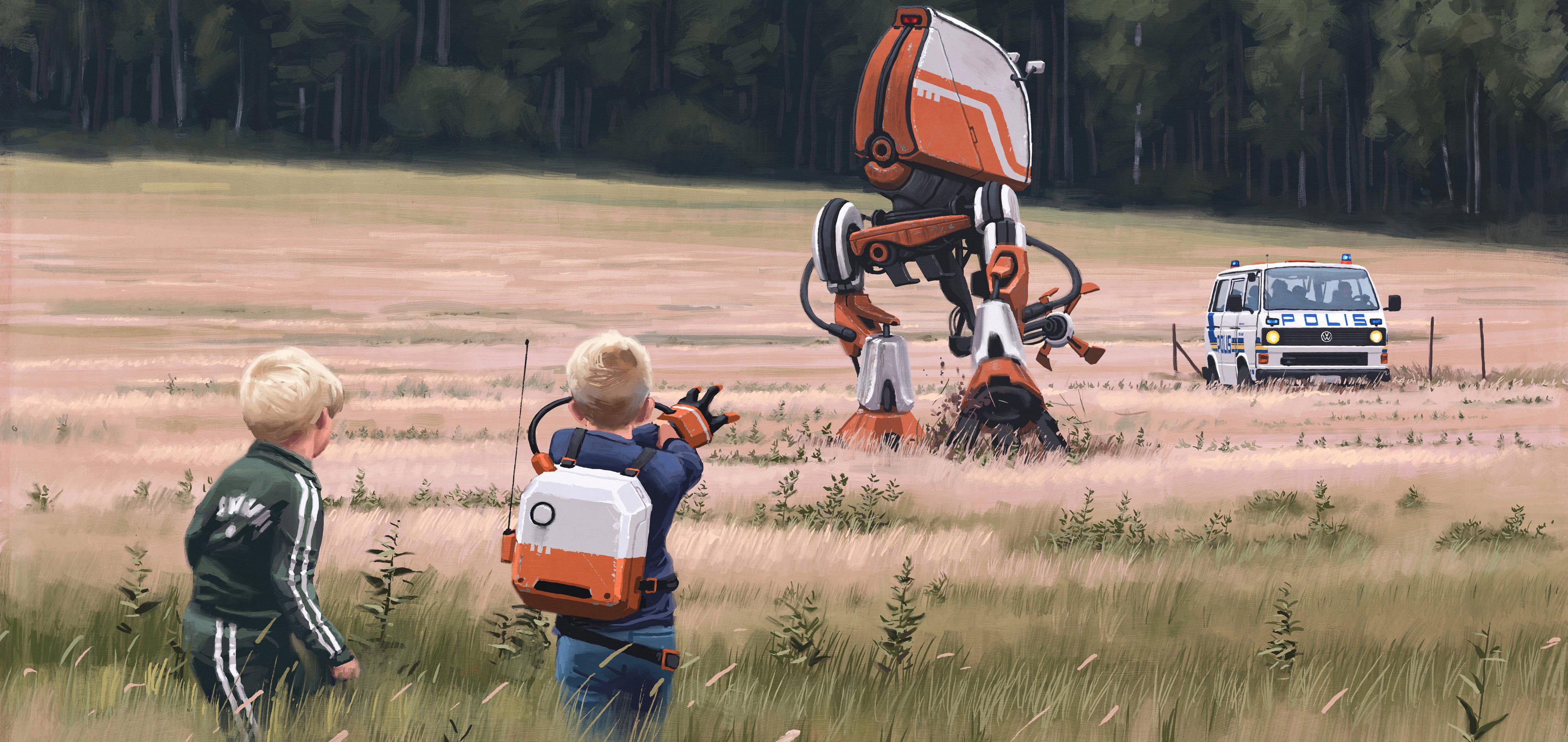 Tales from the Loop concept art - Simon Stålenhag.