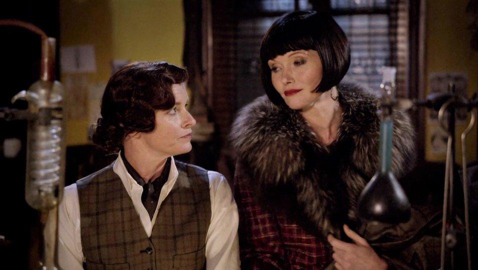 Tammy Macintosh and Essie Davis in Miss Fisher's Murder Mysteries (2012)
