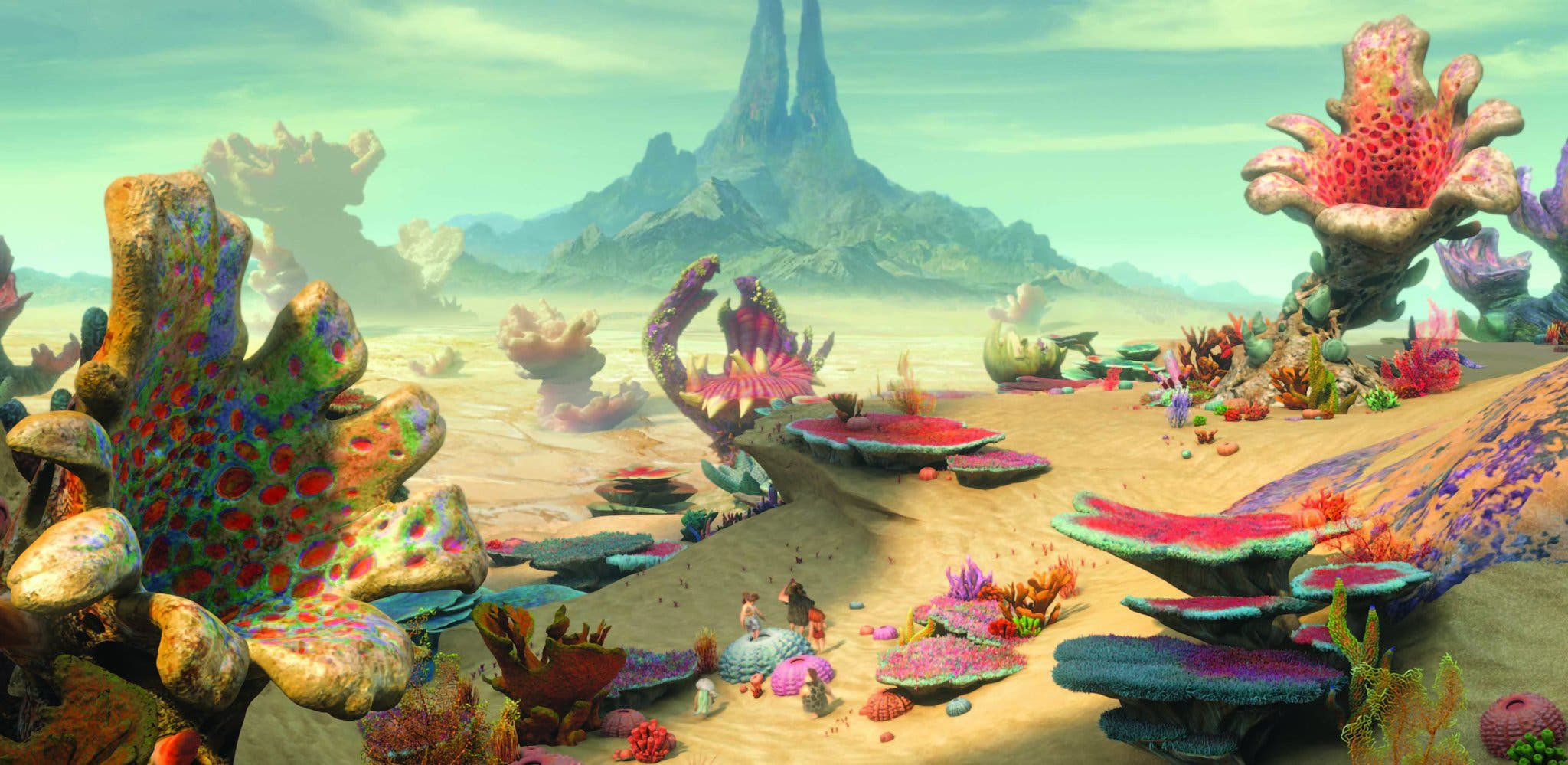 Concept art from The Croods (DreamWorks Animation)