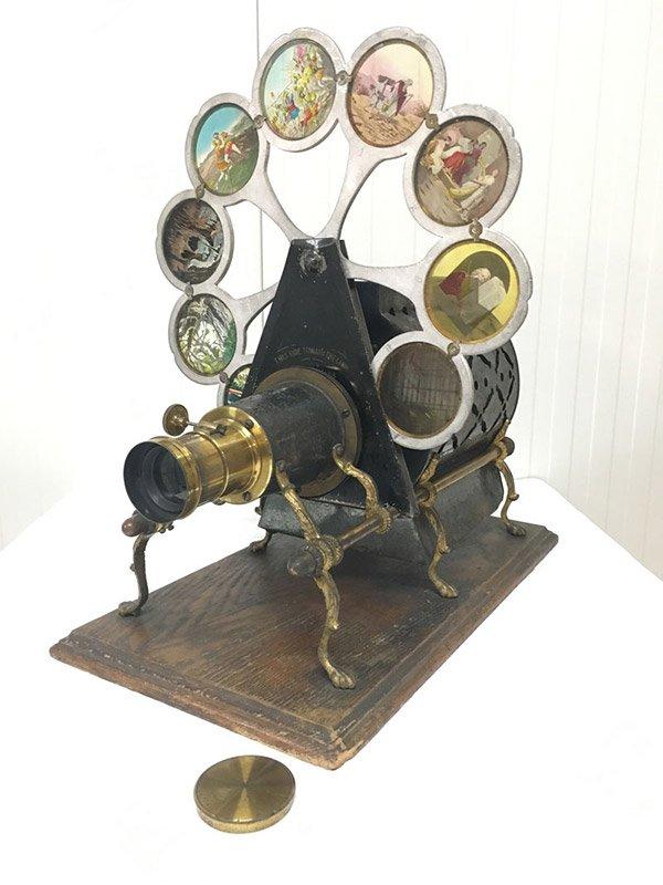 The Pettibone Paragon (Peacock) Magic Lantern Projector, circa 1880