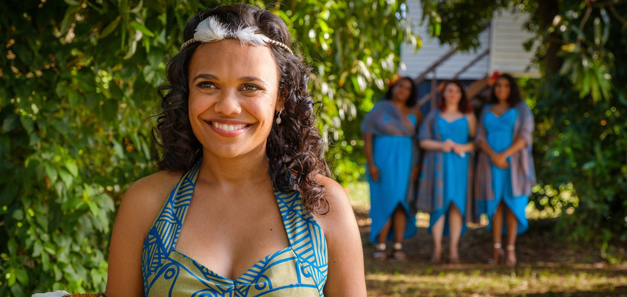 Miranda Tapsell in a still from Top End Wedding (2019)
