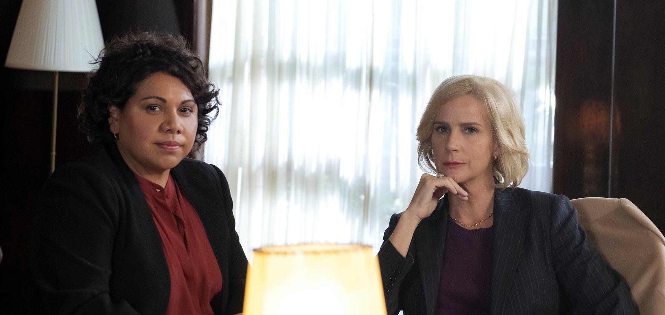 Deborah Mailman and Rachel Griffiths in 'Total Control' (2021) Blackfella Films