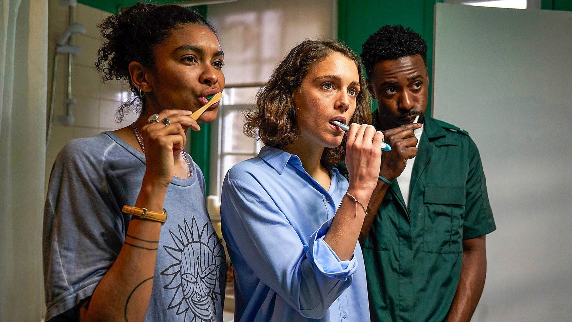 Gary Carr, Thalissa Teixeira and Ariane Labed in 'Trigonometry' (2020).jpg