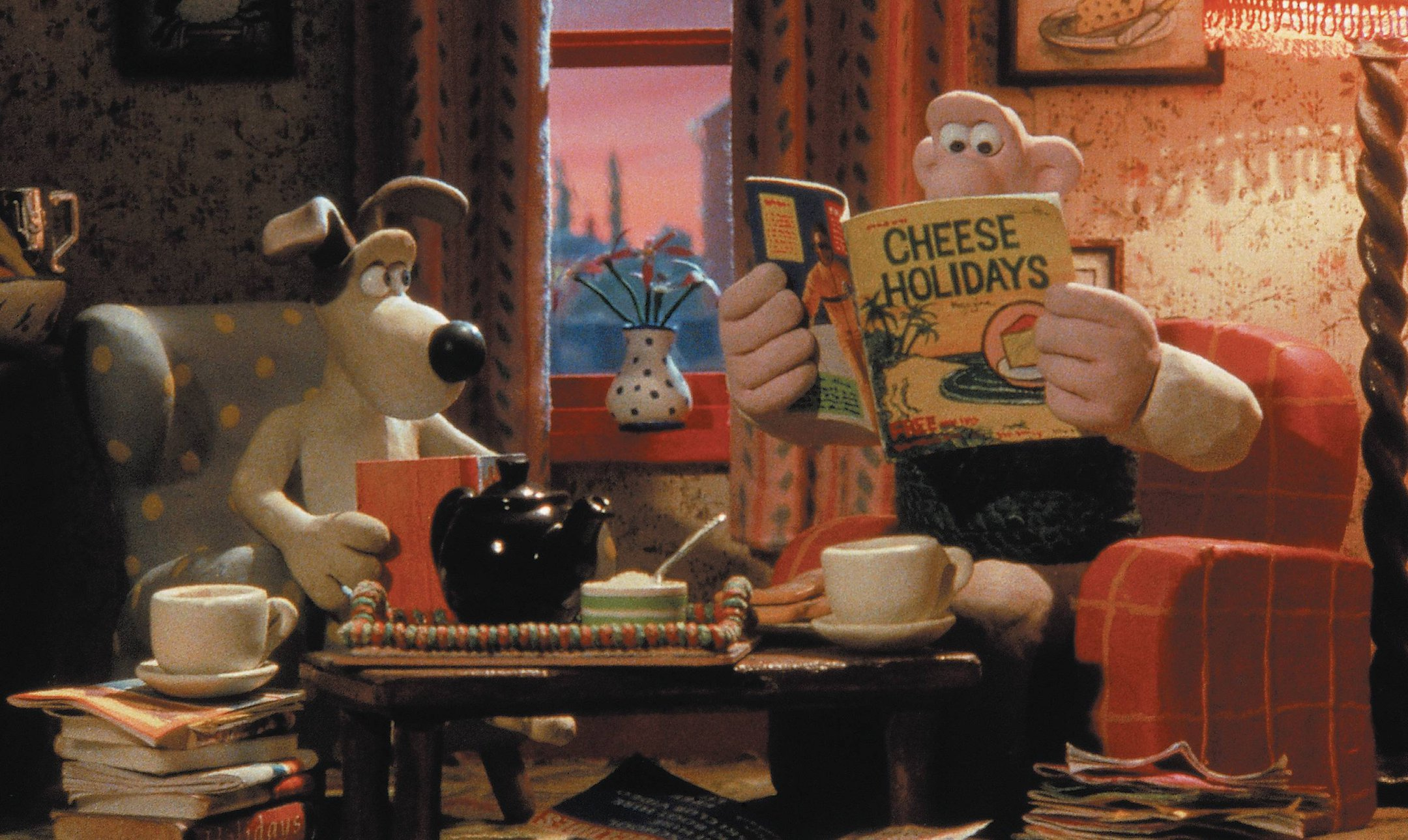 Wallace and Gromit in 'A Grand Day Out' (1989)