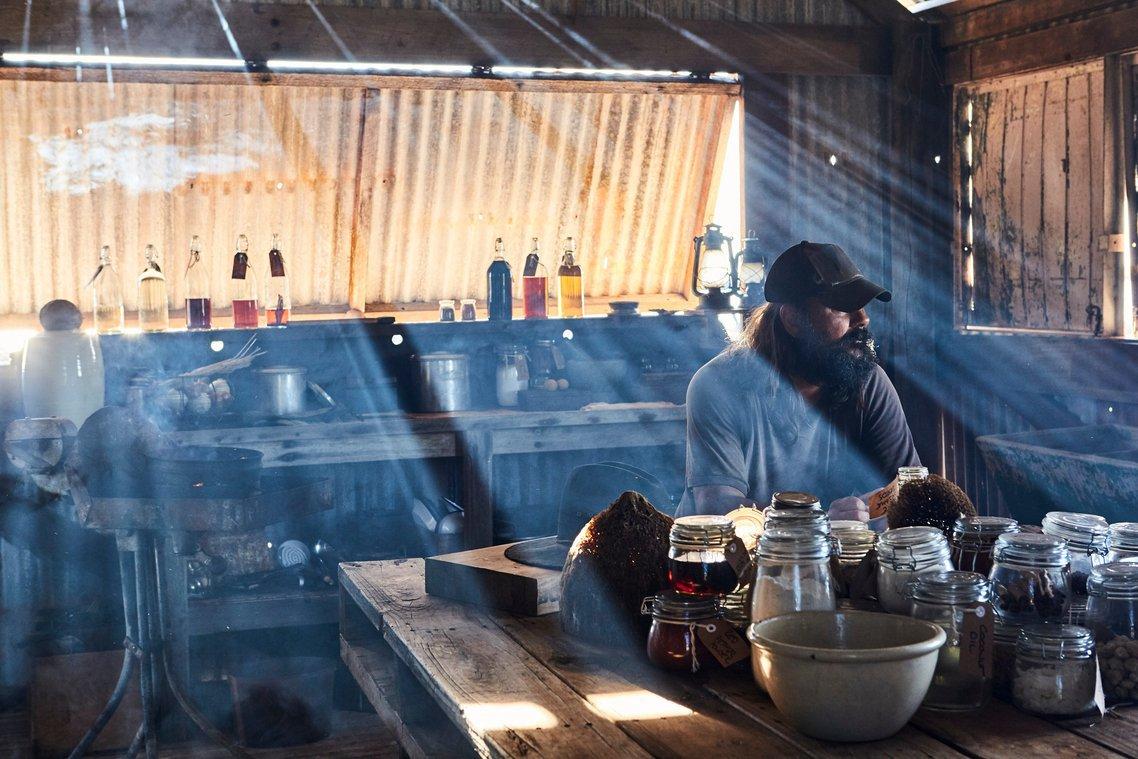 Warwick Thornton - The Beach - inside the shack