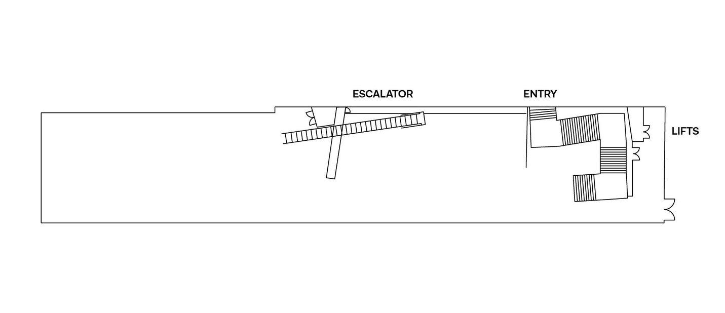 Underground Gallery floorplan - ACMI