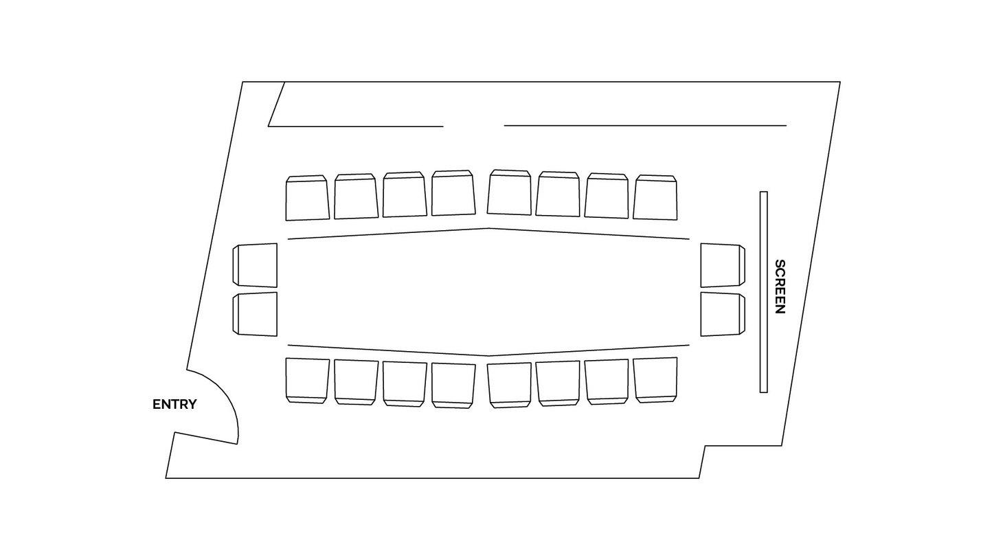 Boardroom floor plans - ACMI