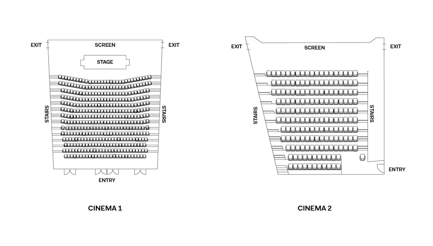 Cinemas floorplan