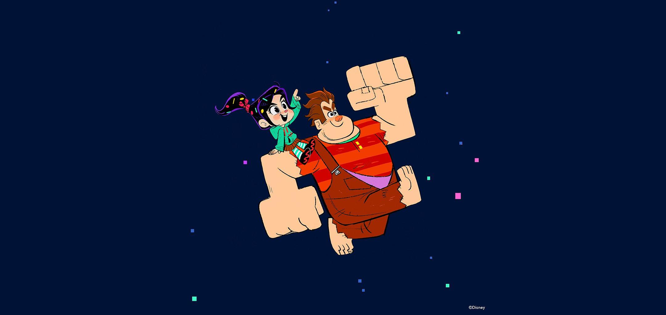 Ralph Breaks the Internet: Wreck it Ralph 2 (2018) Ami Thompson, Concept art, digital painting. © Disney