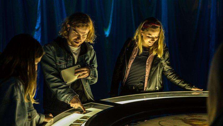 ACMI Wonderland - guests using an interactive exhibit