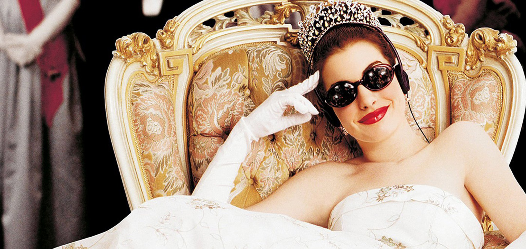 A promotional shot of Anne Hathaway in sunglasses in The Princess Diaries (2001)