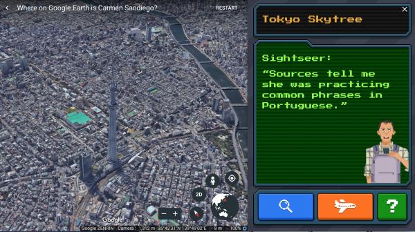 Carmen Sandiego Google Earth 2