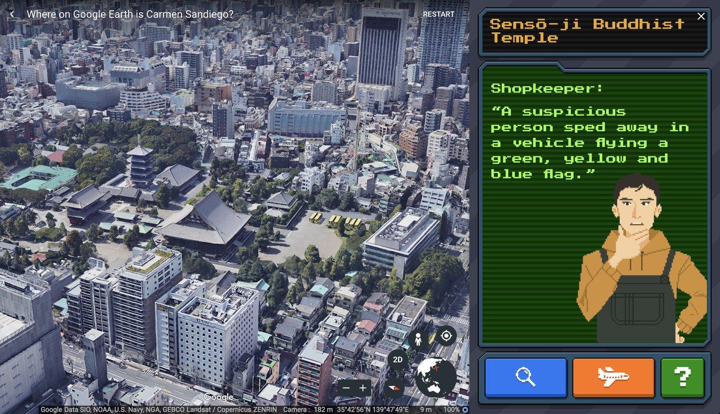 Google earth Carmen Sandiego 3