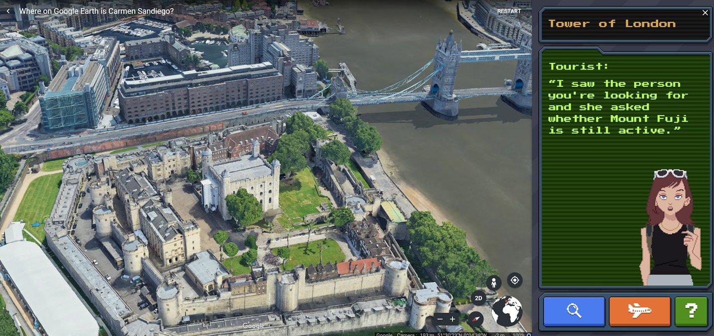 Google earth carmen sandiego 4