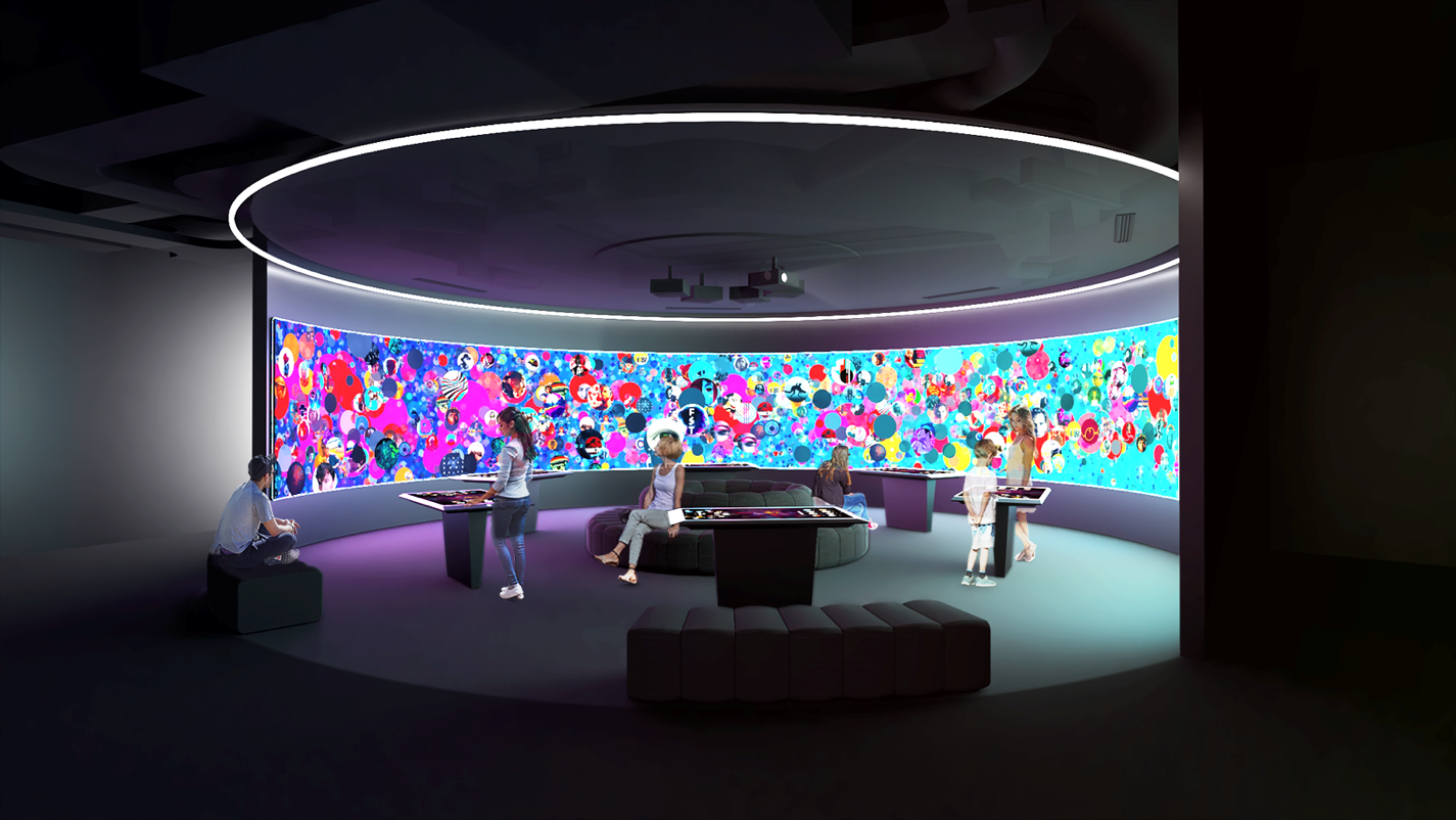 A concept illustration of ACMI's Constellation - not showing commissioned work