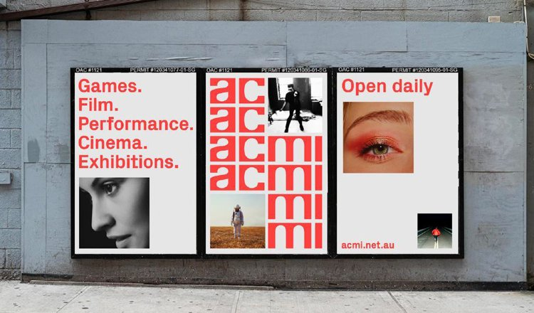 ACMI's new brand identity designed by North