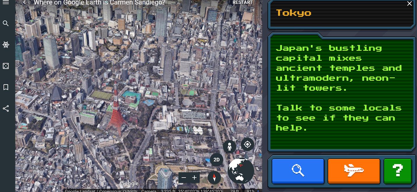 Google earth carmen sandiego 1