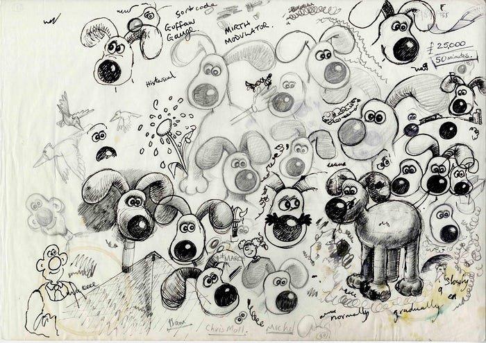 Gromit sketches