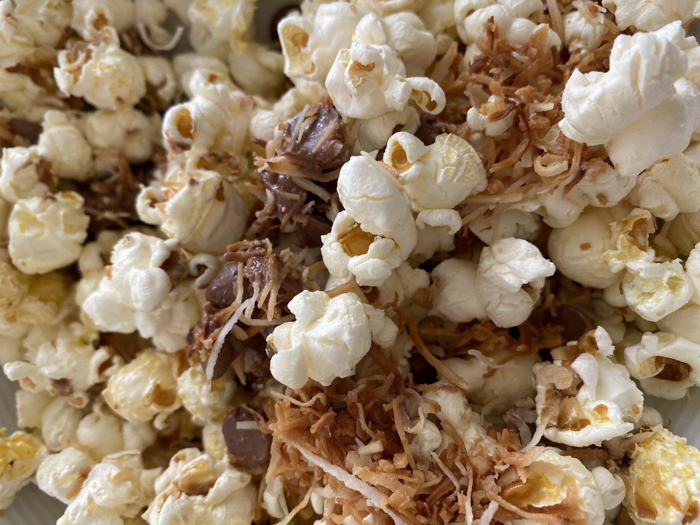 Lamington popcorn