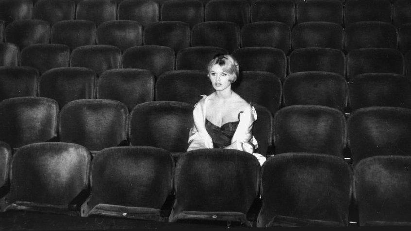 Alone in a movie theatre